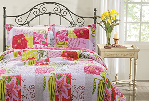 Greenland Home 3-Piece Love Letters Quilt Set, King, Multi by Greenland Home