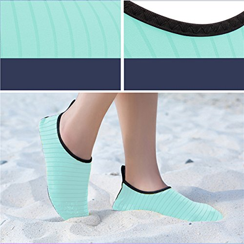 Aqua Water Stripe Socks Beach and Swimming Womens Green Yoga JIASUQI for Exercise Shoes Outdoor Mens wARxIX