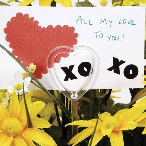 Bulk Buy: Darice DIY Crafts Card Holder Pick Plastic Heart C