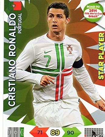 PANINI ADRENALYN ROAD World Cup Brazil 156-Cristiano Ronaldo-Star Player