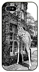 Giraffe breakfast - Case For Iphone 6 Plus 5.5 Inch Cover black plastic case / Animals and Nature, house