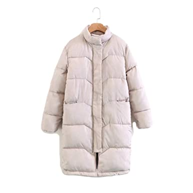 Women Knee Length Pink Coat Camperas Mujer Abrigo Invierno Winter Jacket Female Overcoat