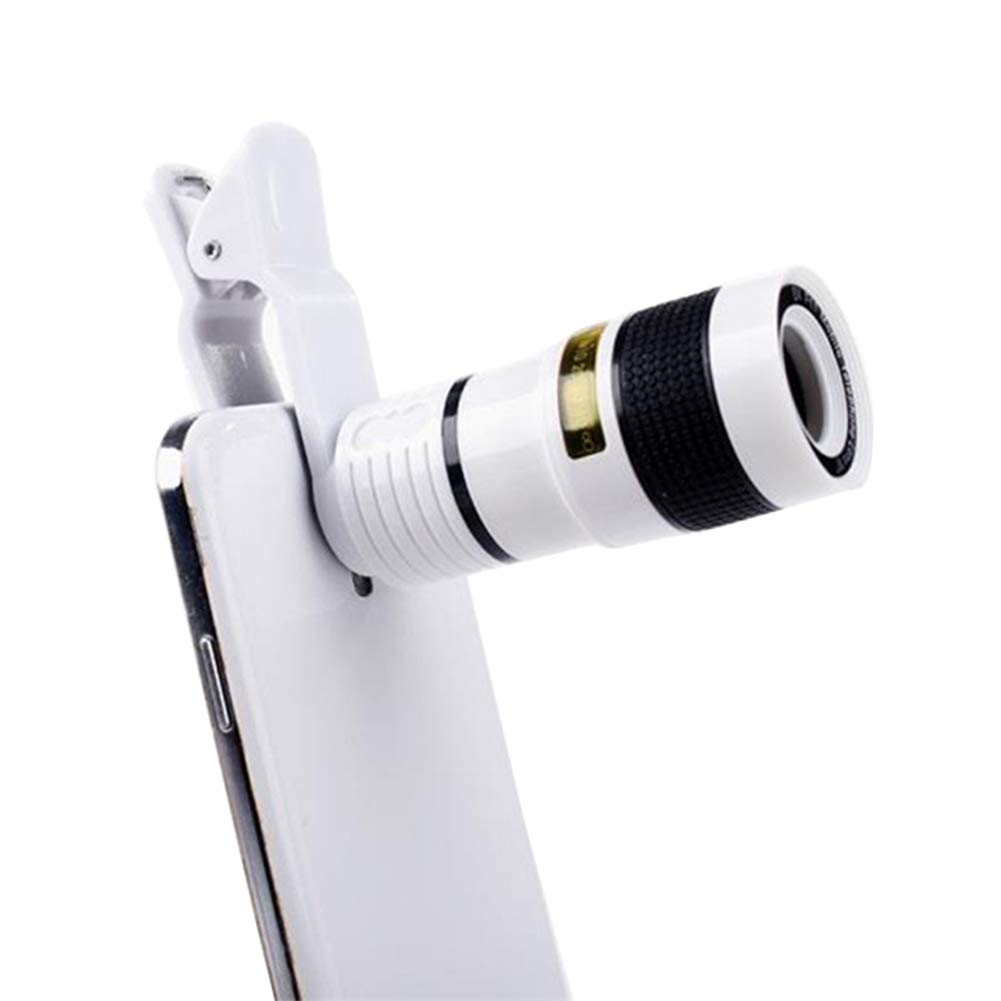 Easyinsmile Cell Phone 12 X Telephoto Lens Clip on for iPhone X 8 7 6s 6 Plus, Samsung,iPad and Smartphones