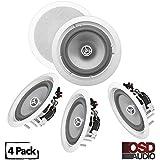 OSD Audio ICE800WRS 8 In-Ceiling/In-Wall 300W Water-Resistant Outdoor Speaker Set of 4 Speakers