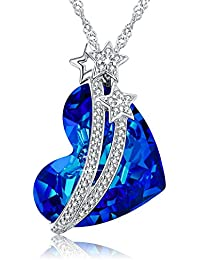 Heart Ocean Necklace Love Heart Pendant Necklaces Women...