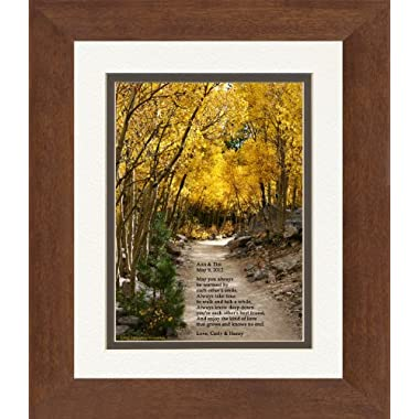 Framed Personalized Wedding Gift for the Couple or Personalized Anniversary Gift for Couple. Aspen Path Photo with Special Poem, 8x10 Double Matted