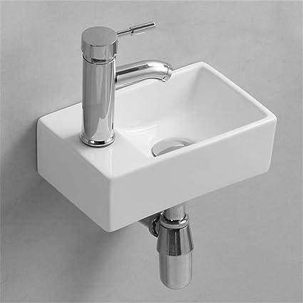 Gimify Lave Main Suspendu Mini Lavabo Mural Pour Wc Toilette 300x185x90mm