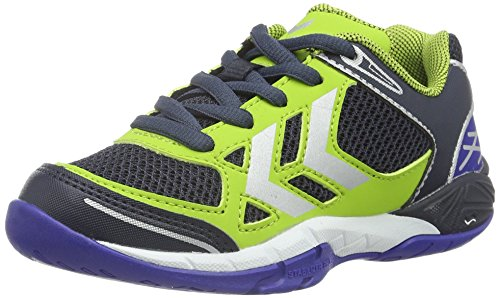 Hummel Omnicourt Z4 Jr, Zapatillas de Balonmano para Niños Verde (Surf The Web)
