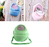 Yosoo 1 PCS Portable White Mesh African Hedgehog Hamster Breathable Pet dog Carrier Bags Handbags Puppy Cat Travel Backpack (M, White Mesh - Green)