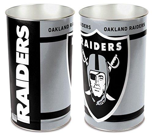 Raiders Wastebasket - Oakland Raiders 15'' Waste Basket