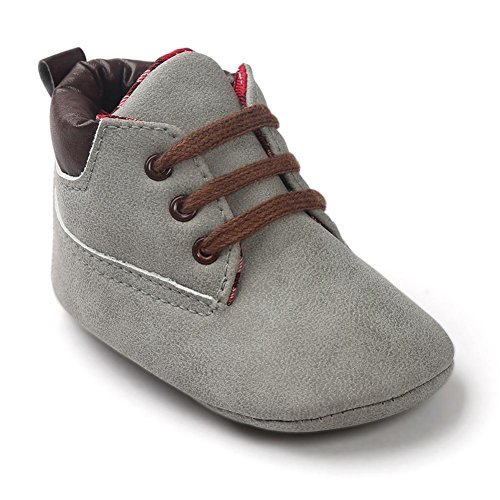 GBSELL Infant Toddler Girl Boy Baby Winter Soft Sole Casual Shoelace Crib Shoes (Gray, 0~6 Month) (Shoes Winter Casual)