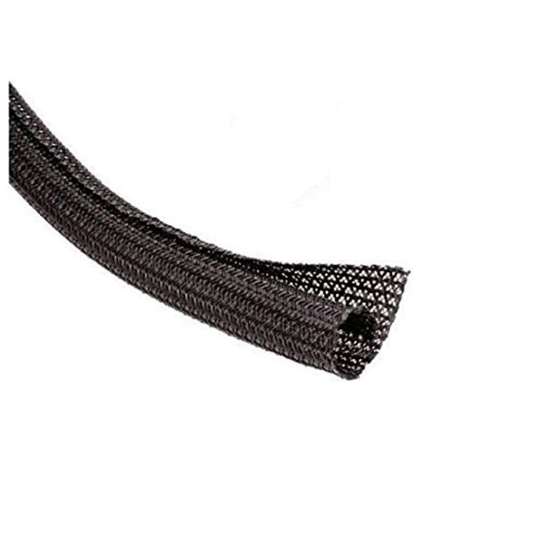 TechFlex F6N0.25BK Flexo F6 General Purpose 1/4-inch Braided Cable Sleeve, Black - 20 Feet