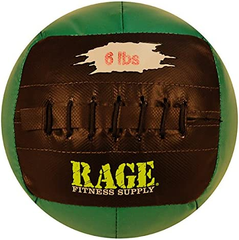 RAGE Fitness 10 Soft Medicine Balls, Wall Ball, Crossfit Training, Handcrafted with Reinforced Seams, MADE IN USA