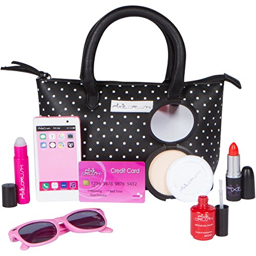 Make Your Doll Costume Baby Own (PixieCrush My First Purse With Pretend Play Makeup for Girls - Set Includes Play Lipstick, Nail Polish, Sunglasses, Cell Phone and Designer Black and White Polkadot)