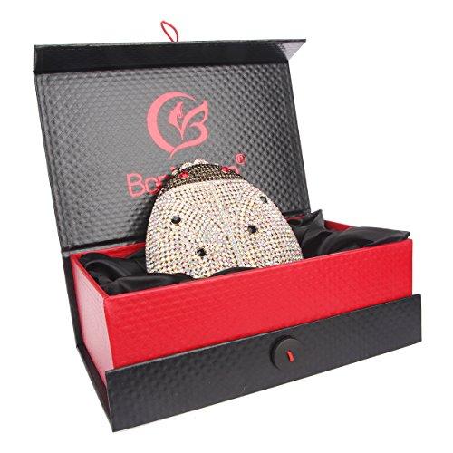Handbags Gold Cute Crystal Clutch Ab Lovely For Girls Ladybird Bonjanvye pBwqz7R