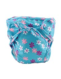 [Floral] Stylish Infant Swim Diaper with Ties, Size Medium, Adjustable