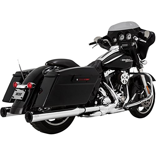 (Vance & Hines Eliminator 400 Exhaust Slip-Ons (NO CA) Chrome/Black End Caps - Fits: Harley-Davidson CVO Electra Glide Ultra Classic FLHTCUSE 2006-2013 )