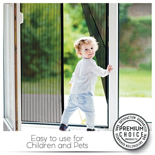 White Magnetic Screen Door - Keeps Bugs OUT, Lets Fresh Air In. No More Mosquitos or Flying Insects. Instant Bug Mesh with Top-to-Bottom Seal, Snaps Shut Like Magic for a Hands-Free Bug-Proof Curtain by Premium Choice Products (Image #3)