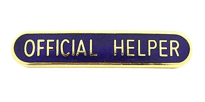 Official Helper School Bar Badge Handmade Vitreous Enamel