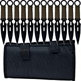 Whetstone-Cutlery-12-Piece-Set-of-SForce-Kunai-Knives-with-Carrying-Case
