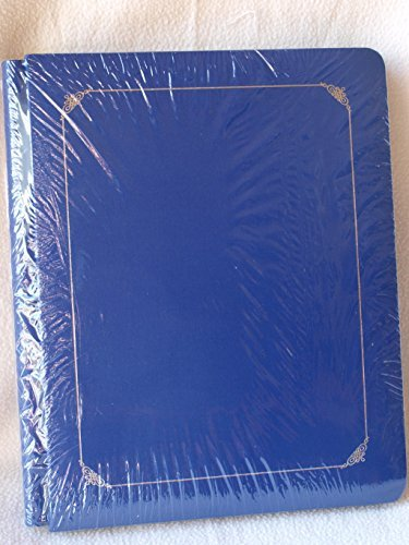 Creative Memories Rare 8-1/2 X 11'' Tribute Flex Sapphire Blue Silver Trim Album with 15 Pages