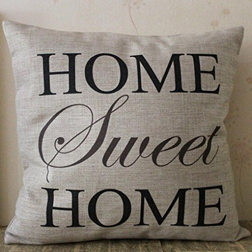 Gohome-Pillowcase 45cm45cm Home Sofa Chair Bedding Square Pillow Case Hotel Cushion Cotton and Linen Cushion Cover price