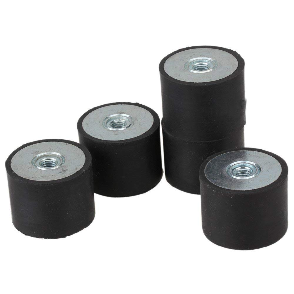 75x20mm Black DE Rubber Female M12 Thread Mounts Isolator Replaces Anti Vibration Pads Flat Silentblock Base Block