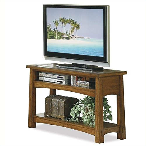 Riverside Furniture Craftsman Home Console Table in Americana Oak Finish