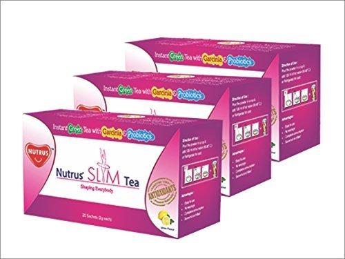 NUTRUS Slim Tea 20'Sachets, natural fat burner, good for digestion, Lemon flavor