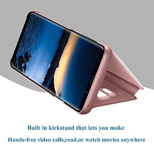 en C9 Coque Clip Mirroir Galaxy de Housse Samsung PC secousse Cas Etui View Clear Pro qqBp74