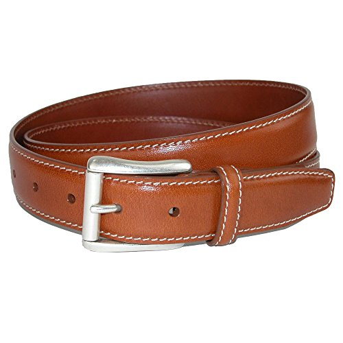 (CrookhornDavis Dress Belt for Men, Calfskin Leather Accessories - (Ciga Smooth), 38, Tan)