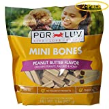 Pur Luv Mini Bones Peanut Butter Flavor Dog