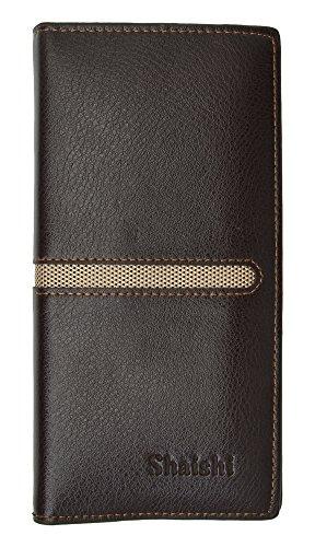 Bi Color Wallet - Men's Large Genuine Leather Long Checkbook Cover Wallet (Bi-color)