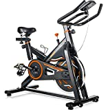Merax Deluxe Indoor Cycling Bike Cycle Trainer Exercise Bicycle (Black&Orange)