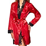 shapewear-briefs,Women Lingerie V Neck Nightwear Satin Sleepwear Lace Chemise Mini Teddy,