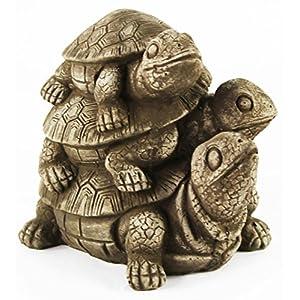 Turtles Statue Stack Home and Garden Statues Gardener Statuary Decor Cast Stone Tortoise Sculpture