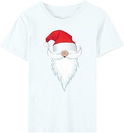 ZODOF camiseta de navidad mujer Moda Estampado de navidad O-cuello Manga corta Casual Linda Camisa de vacaciones playeras de navidad en familia T-Shrit Tops: Amazon.es: Instrumentos musicales