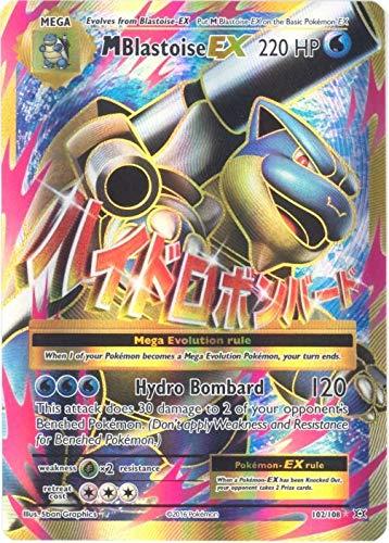 Pokemon Mega Blastoise Ex 102 108 Xy Evolutions