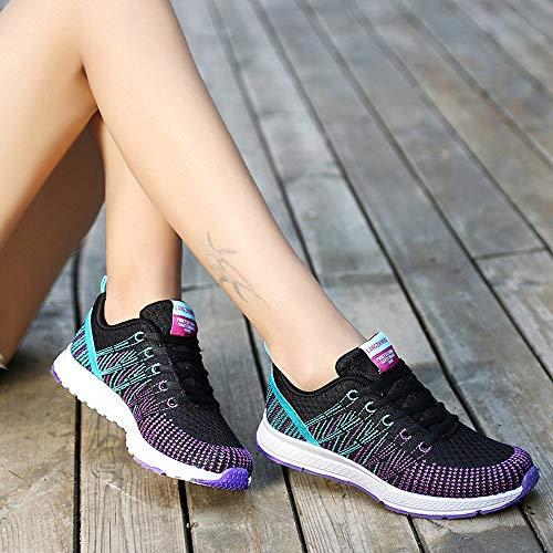 40 Yoga Exterior Logobeing Running Sneakers Negro Zapatos Calzado 35 Mujer Deportivas Deportivo Casual Zapatillas De 605 Ann8BUOq