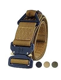 Fairwin Tactical Belt Rigger, Military Webbing Heavy Duty Triangular V-Ring (Brown)