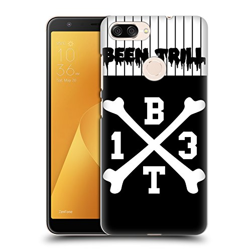 Jersey Hc Crossbones (Official Been Trill Crossbone Jersey Hard Back Case for Zenfone Max Plus (M1))