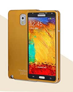 VWTECH Strong and light Aircraft Grade Aluminum Metal Tempered Glass Dust Proof Cover Case for Samsung Galaxy Note 3 III (Luxury Gold)