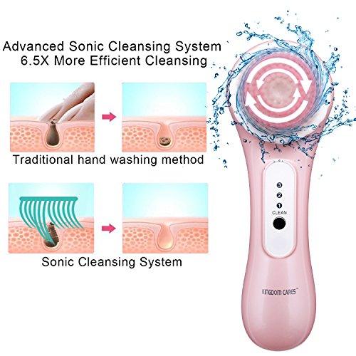 KINDOMCARES Advanced Facial Cleansing Brush System Facial