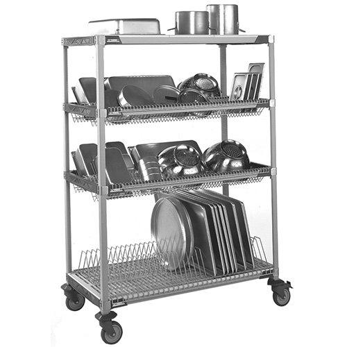 "Metro PR48VX3 Drying Rack Shelving Unit - Mobile, 50"" Wx26 D"
