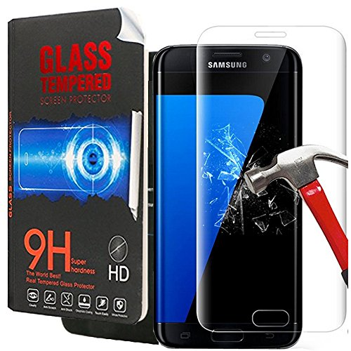Galaxy S7 Screen Protector,Galaxy S7 Glass Screen Protector,Creativecase [Bubble Free][9H Hardness][HD Clear] Tempered Glass Screen Protector for Samsung Galaxy S7-1 Pack