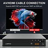 LONPOO Compact DVD Player Free Region Play, Support