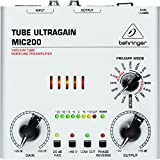 Behringer Tube Ultragain Mic200 High-End Vacuum Tube Preamplifier With Preamp Modeling Technology