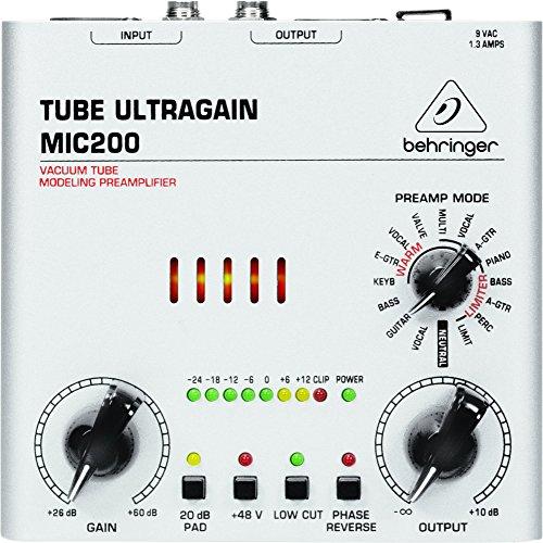BEHRINGER TUBE ULTRAGAIN MIC200 (12ay7 Tube Microphone Preamp)