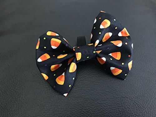 Candy Corn Costume Homemade (Dog Bow Tie in Orange Halloween Candy Corn Fall / Autumn Pet Fashion)