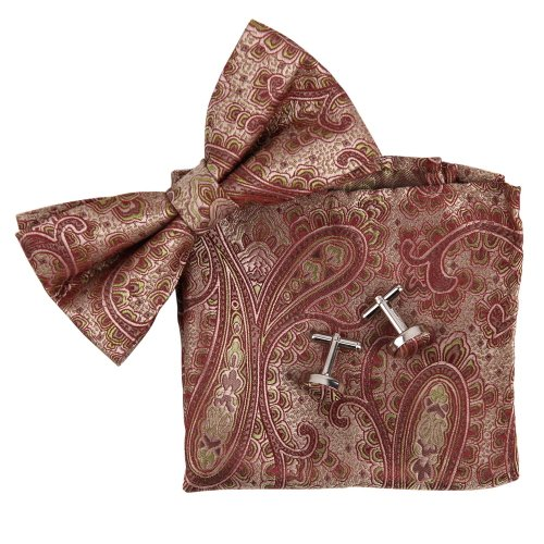 Silk Pre-tied Bow Tie Cufflink Hanky Perfect Handmade Christmas Gifts For Father By Epoint ()